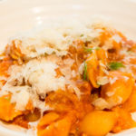 fennel and sausage ragu served