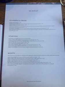 The Ferry Cookham Menu