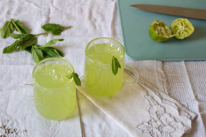 Elderflower cucumber and mint mixed with sparkling water