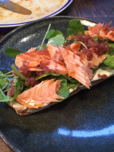 No 5 Bridge Street smoked trout and wasabi