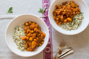 Squash and Chickpea Tagine with herby cous cous