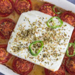 chilli and tomato baked feta