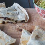 black bean quesadillas with guacamole