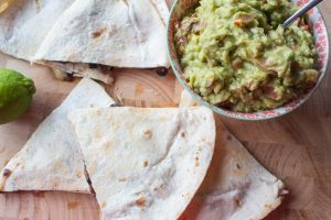 black bean and cheese quesadillas