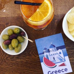 Instagram version of Aperol and olives