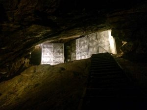 Cheese maturing in cheddar caves