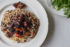 black pudding and sage pasta