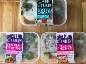 city kitchen katsu, coconut chicken and teriyaki chicken