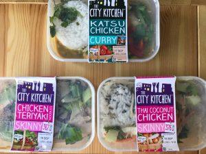 city kitchen katsu, coconut chicken and teriyaki chicken