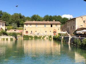 Bagno Vignoni and Italian spa town