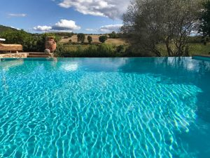 Infinity pool at Relais Ortaglia
