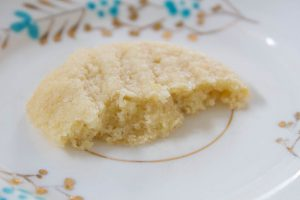 crumbly Lemon and Almond Biscuits inside