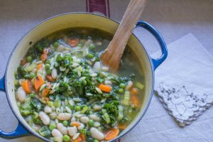 autumn vegetable minestrone