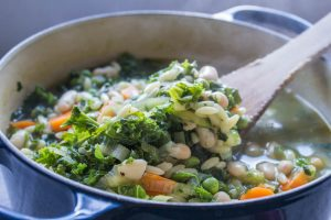 autumn minestrone full of vegtables