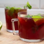 No alcohol pomegranate mojitos