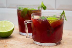 No alcohol pomegranate mojitos