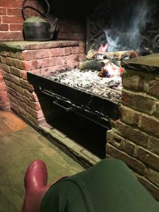 sat by the fire at The Royal Oak Fritham