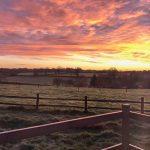 sunrise from the shepherd's hut