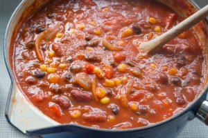 mixed bean, sweetcorn and chipotle chilli soup