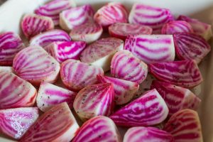Chioggia beetroot, aka candy beetroot