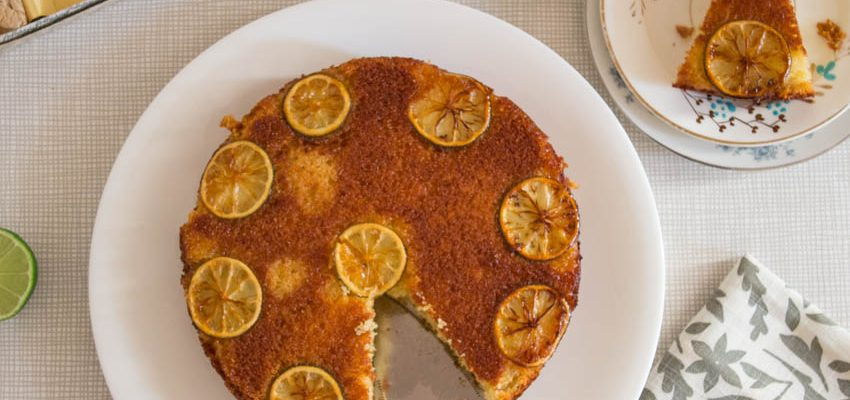 Upside Down Lime Cake