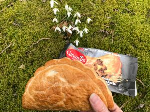 Taking a Ginsters pasty on a picnic