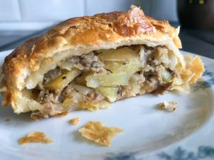 Baked ginsters pasty