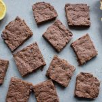 chocolate, thyme and lemon shortbread pieces