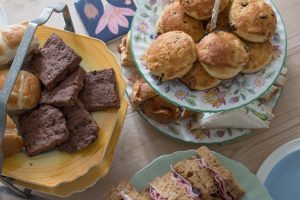 biscuits, scones and sandwiches for easter afternoon tea