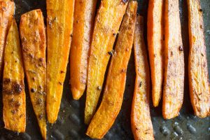 carrots roasted with jerk spices