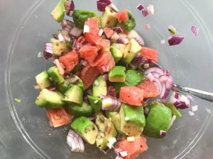 avocado grapefruit salad mix
