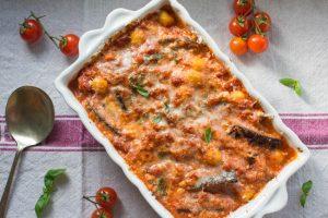 aubergine and ricotta gnocchi bake