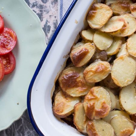 Moussaka without frying aubergines