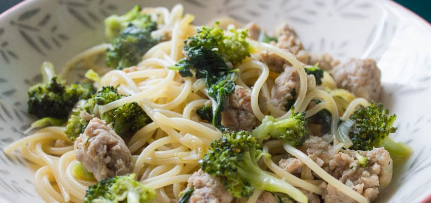 Sausage, Broccoli and Spinach Pasta