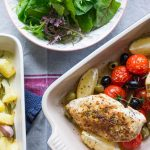 Greek chicken tray bake