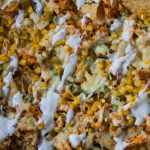 Buffalo Chicken Nachos with Ranch Dressing