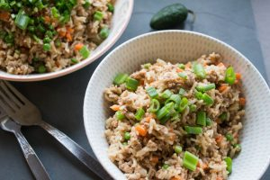 Satay Pork and Vegetable Fried Rice