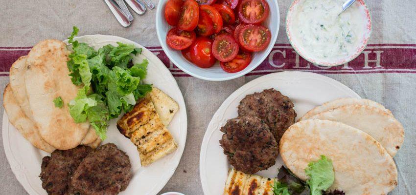 BBQ Lamb Kebabs with Halloumi