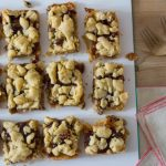 Mince Pie Crumble Bars, out of the oven