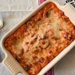 Easy Vegetable Lasagne after baking