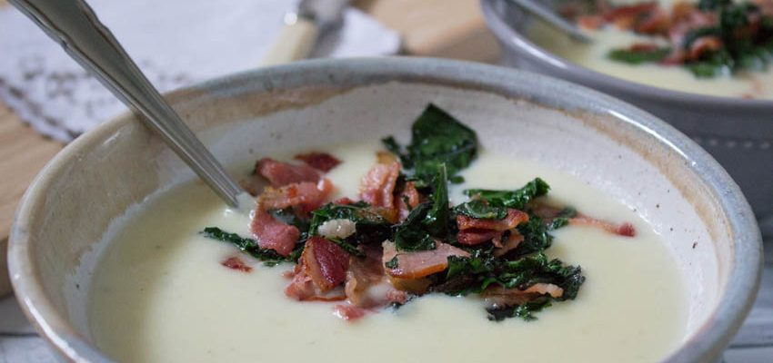Smoked Bacon and Kale Soup