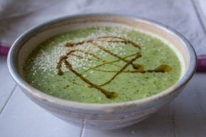 broccoli stalk and sesame soup