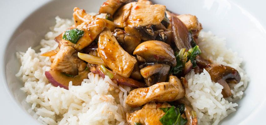 Kung Pao Chicken with Mushrooms