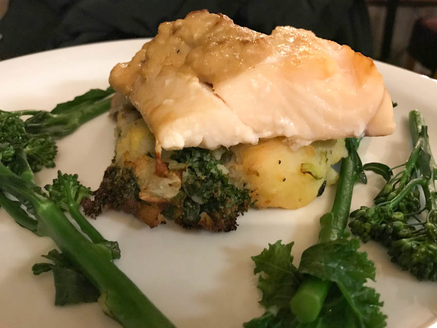 Smoked haddock and bubble and squeak