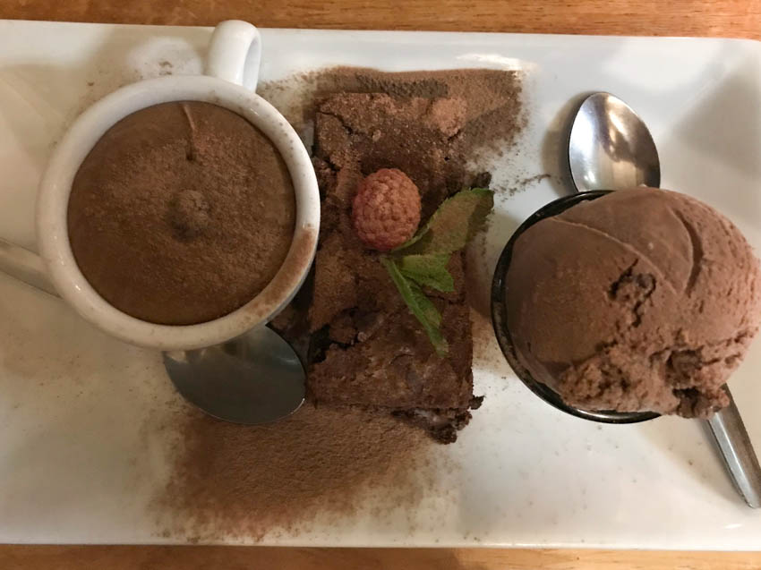 trio of chocolate at The Fox