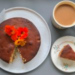 Honey Cake decorated with flowers