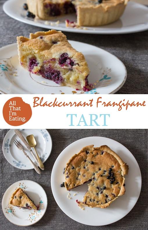 Blackcurrant and Frangipane tart - pin