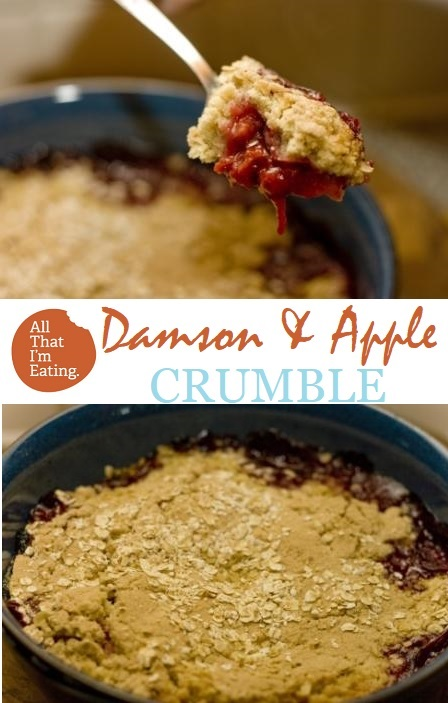 Damson and Apple Crumble - Pin!