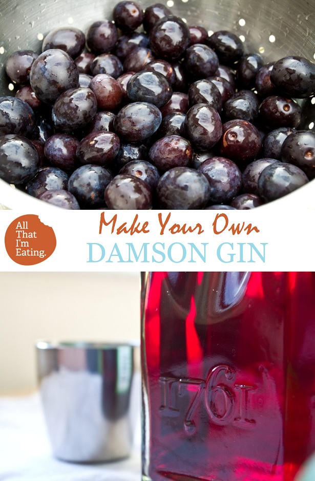 Make Your Own Damson Gin - All That I'm Eating