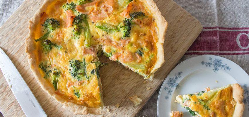 Smoked Salmon and Broccoli Quiche